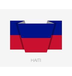 Flag of haiti flat icon vector