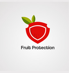 fruit protection logo icon element and template vector image