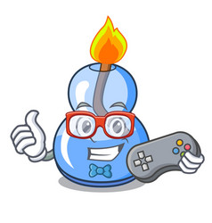 Gamer alcohol burner mascot cartoon vector
