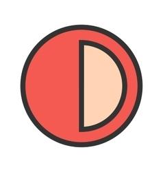 Half Pie Chart vector image