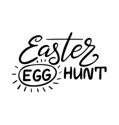 Happy easter lettering greeting card template vector