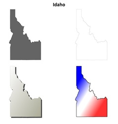 Idaho outline map set vector