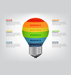 infographic template with light bulbs vector image