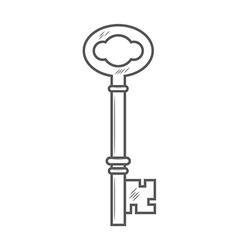 Key isolated on white background vector image