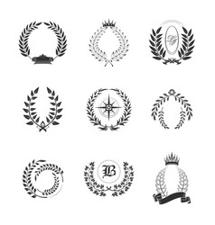 Leaf ornaments for generic or tribal family sign vector