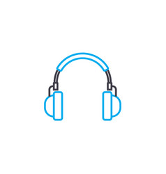 listening to music linear icon concept listening vector image