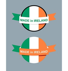 Made in ireland logo for product map ireland vector