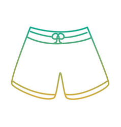 male short swimsuit fashion clothes vector image