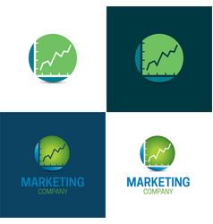 marketing company vector image