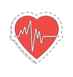medicine flat icon for design heart world blood vector image