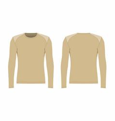 Mens beige long sleeve t shirt vector