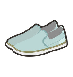 mens light summer shoes made blue fabric vector image