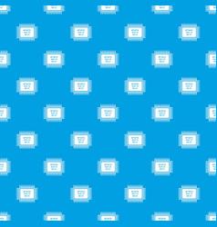 Micro microchip pattern seamless blue vector