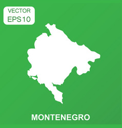 montenegro map icon business concept montenegro vector image