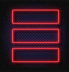 neon light banners set neon light frame vector image