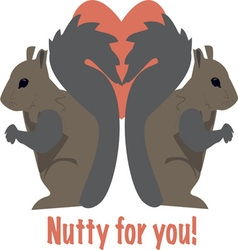 Nutty for You vector image