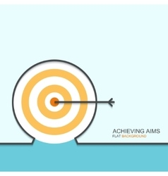 outline flat design of achieving aims vector image