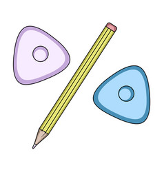 pencil and sewing washsewing or tailoring tools vector image