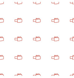 Phone cable icon pattern seamless white background vector