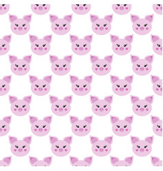 picture of a piglet symbol of the year 2019 vector image