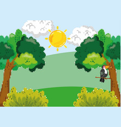 pixelated forest scenery vector image