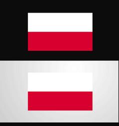 Poland flag banner design vector
