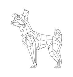 Polygonal triangular a dog vector