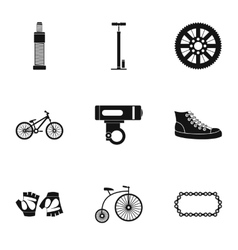 Race cycling icons set simple style vector