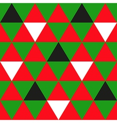 Red Green Black White Triangle Background vector image