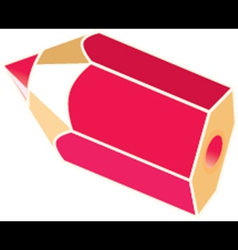Red Pencil vector image vector image