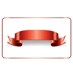 Red ribbon bow blank banner vector