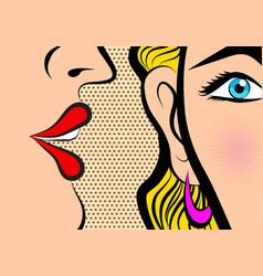 Retro pop art style comic style book panel gossip vector