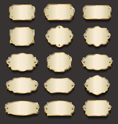 retro vintage golden frames collection 1 vector image