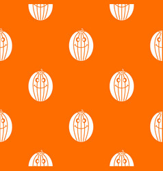 ripe smiling melon pattern seamless vector image