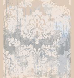 Rococo pattern texture damask ornament vector