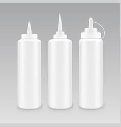 set blank plastic white mayonnaise vector image
