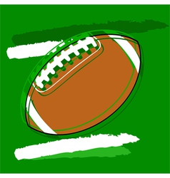 Stylized football vector image