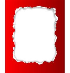 Torn paper frame vector