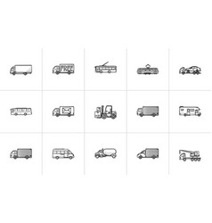transport hand drawn outline doodle icon vector image