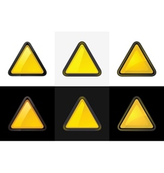triangle web button vector image
