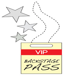 VIP Backstage Pass vector