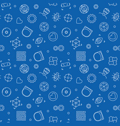 virtual reality seamless pattern vr vector image