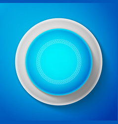 white rope frame icon isolated on blue background vector image