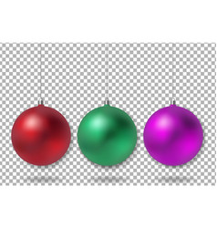 xmas ball vector image