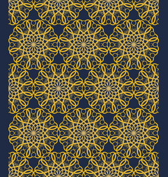 yellow seamless decorative filigree lace patterns vector image