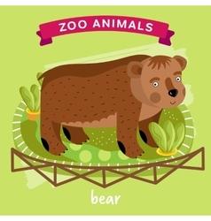 Zoo Animal Bear vector image