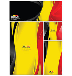 abstract belgium flag background vector image vector image