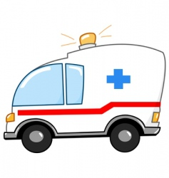 ambulance cartoon vector image vector image