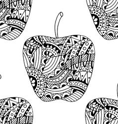beautiful Patterns apple seamless pattern vector image