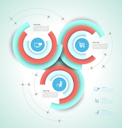 Circle group template vector image vector image